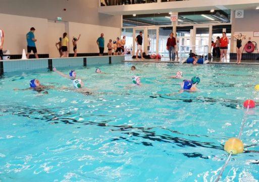 Jaarlijks miniwaterpolotoernooi in Waalwijk een groot succes
